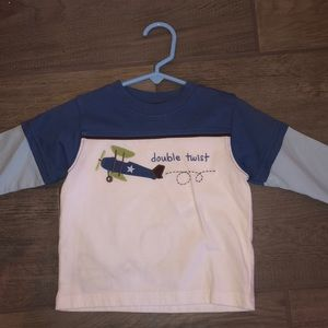 Gymboree airplane shirt